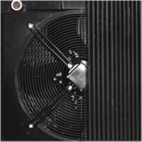Zdjęcie chłodnicy olejowo-powietrznej montowanej w kompresorach marki Gudepol